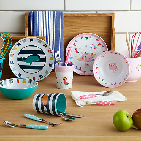 Buy little home at John Lewis Children's Cutlery, Blue Spots Online at johnlewis.com