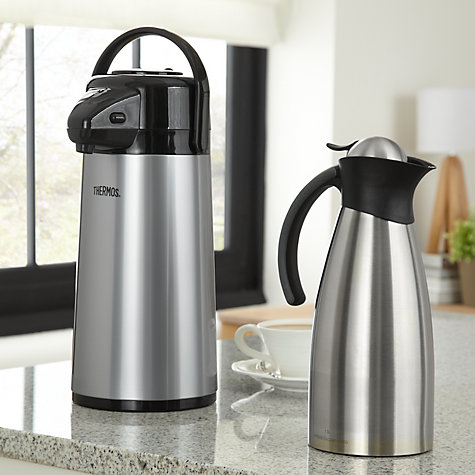 Buy Thermos Push Button Pump Pot with Glass Liner, 1.9L Online at johnlewis.com