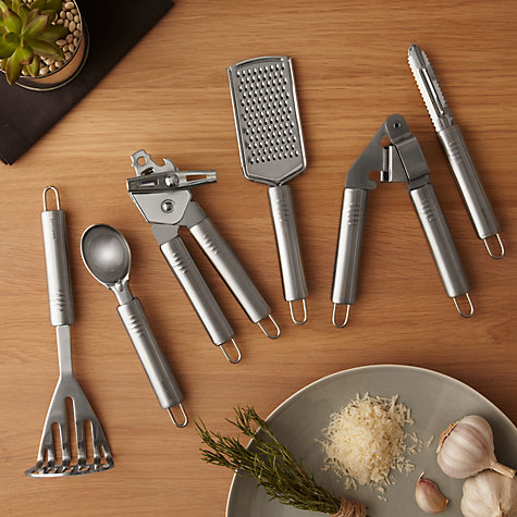 Buy John Lewis Stainless Steel Garlic Crusher Online at johnlewis.com