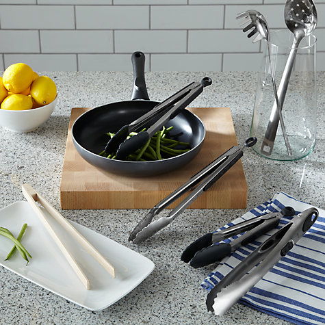 Buy John Lewis The Basics FSC Wooden Tongs Online at johnlewis.com