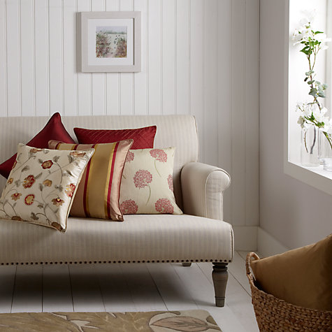 Buy John Lewis Oriental Floral Cushion, Gold Online at johnlewis.com