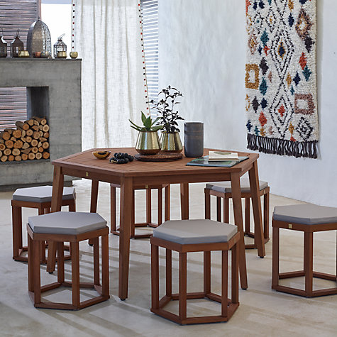 Buy John Lewis Venice 6 Seater Hexagonal Dining Table