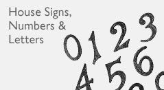 House Signs, Numbers and Letters