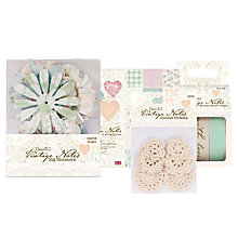 Buy Docrafts Vintage Notes Papercraft Range Online at johnlewis.com
