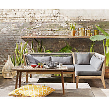 Buy John Lewis Matrix One Arm Sofa & Coffee Table, FSC-certified (Acacia) Online at johnlewis.com
