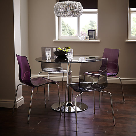 John Lewis Gel Dining Chairs , Amethyst New | eBay
