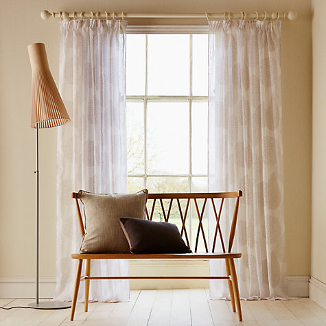 Buy John Lewis Silhouette Flower Voile Panel, Natural Online at johnlewis.com