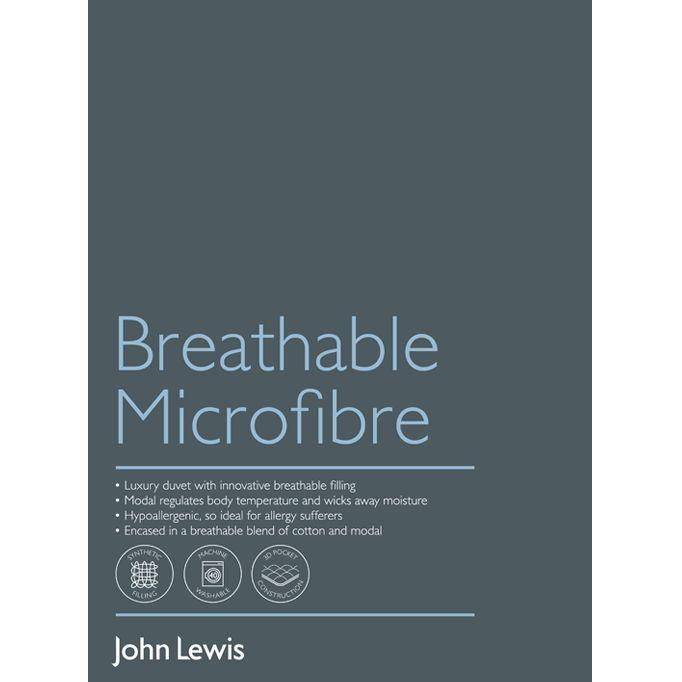 John Lewis Wedding Gift List Contact : Buy John Lewis Breathable Microfibre Duvet, 4.5 Tog John Lewis