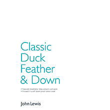 Buy John Lewis Classic Duck Feather & Down Bedding Online at johnlewis.com