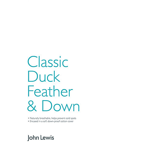 Buy John Lewis New Classic Duck Feather and Down Standard Pillow, Soft/Medium Online at johnlewis.com
