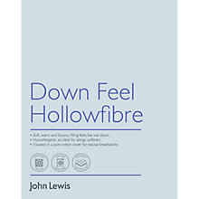 Buy John Lewis Down Feel Microfibre Bedding Online at johnlewis.com