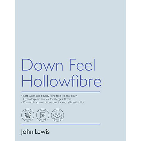 Buy John Lewis Down Feel Hollowfibre Standard Pillow, Medium/Firm Online at johnlewis.com
