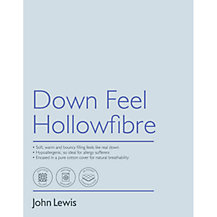 John Lewis Down Feel Microfibre Bedding