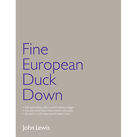 Buy John Lewis Fine European Duck Down Duvet, 2.5 Tog Online at johnlewis.com