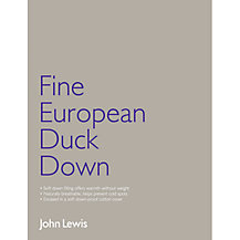 John Lewis Fine European Duck Down Bedding