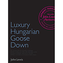 Buy John Lewis Luxury Hungarian Goose Down Bedding Online at johnlewis.com