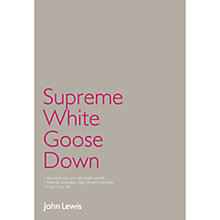 Buy John Lewis Supreme White Goose Down Bedding Online at johnlewis.com