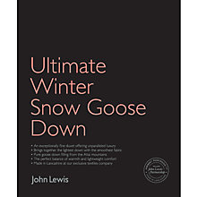 Buy John Lewis Ultimate Winter Snow Goose Down Bedding Online at johnlewis.com