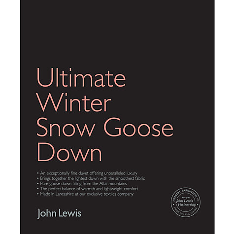 Buy John Lewis Ultimate Winter Snow Goose Down Duvet, 2.5 Tog Online at johnlewis.com