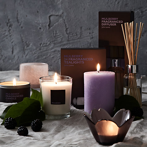 Buy John Lewis Mulberry Scented Tealights, Pack Of 24 Online at johnlewis.com