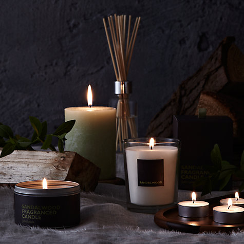 Buy John Lewis Sandalwood Scented Pillar Candle, Small Online at johnlewis.com