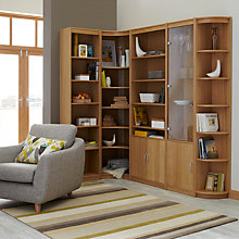 Buy John Lewis Agatha Corner Bookcase Combination, Oak Online at johnlewis.com