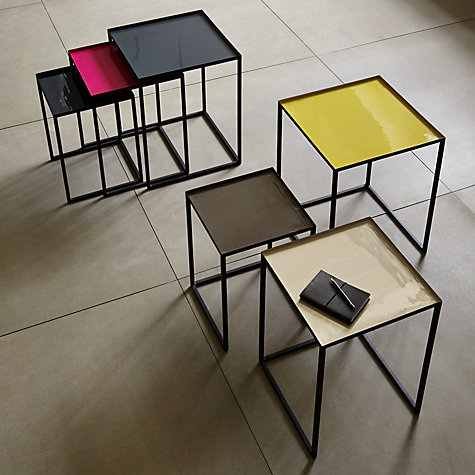 Buy Content by Conran Accents, Nest of 3 Tables, Steel/Pink/Blue Online at johnlewis.com