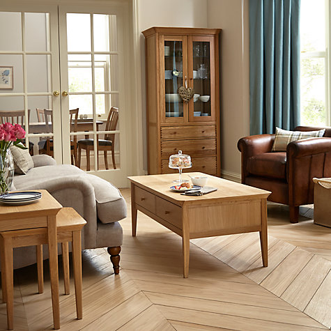 Buy John Lewis Essence Nest of Two Tables, Oak Online at johnlewis.com
