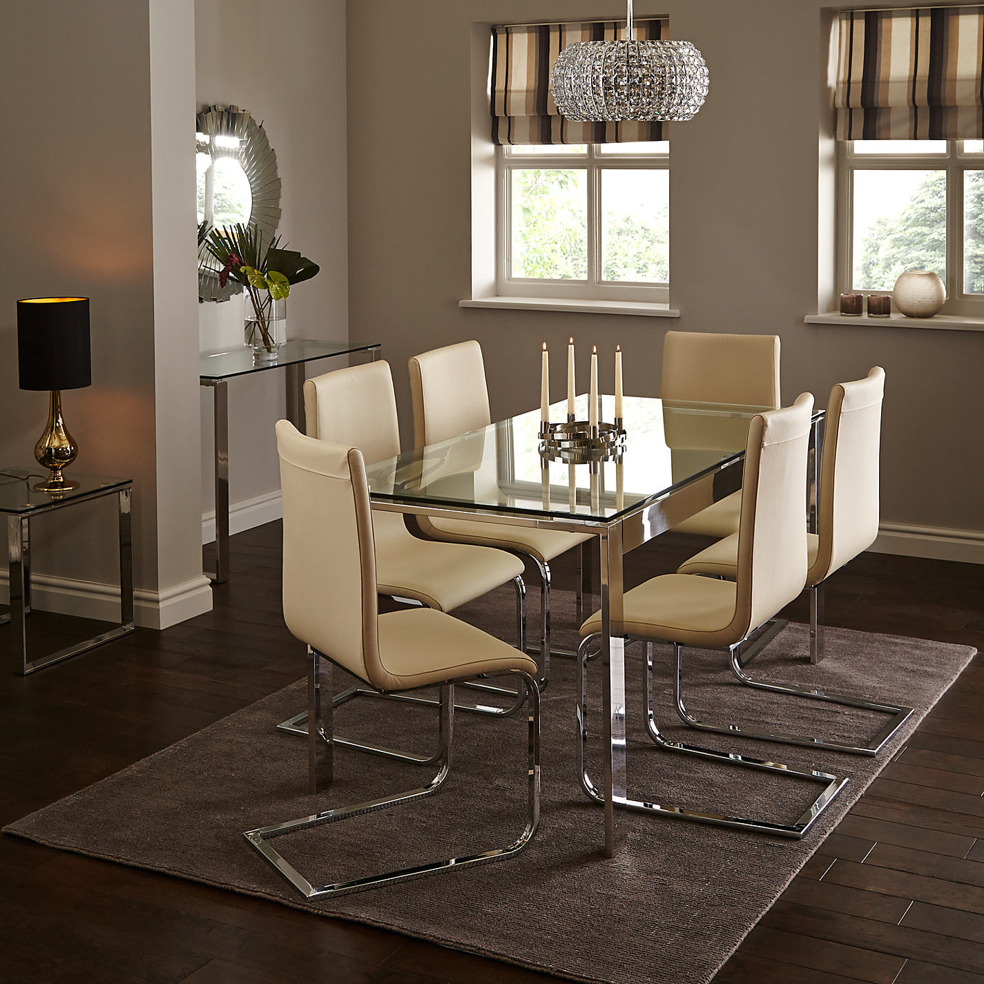 Glass dining table and chairs john lewis john lewis for Dining room john lewis