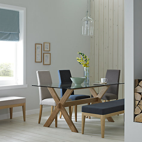 Buy John Lewis Gene 6 Seater Rectangular Dining Table, Glass Online at johnlewis.com