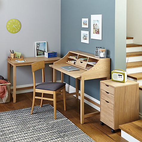 Buy John Lewis Loft Simple Ash Veneer Desks Online at johnlewis.com