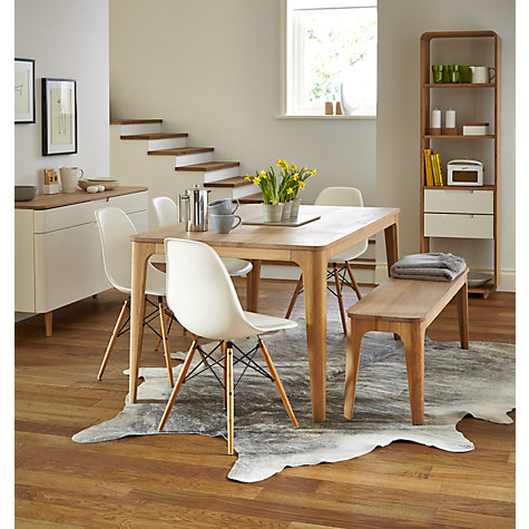 Buy Ebbe Gehl for John Lewis Mira 3-Seater Dining Bench, White And Oak Online at johnlewis.com