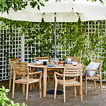 Buy John Lewis Longstock Rectangle Outdoor Dining Table & 6 Stacking Chairs, FSC-Certified (Teak), Natural Online at johnlewis.com