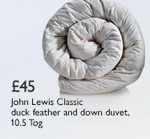 John Lewis Classic Duck Feather and Down Duvet 10.5 Tog