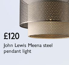 John Lewis Meena steel pendant light