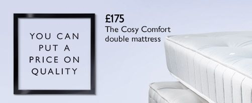 The Cosy Comfort 325 open spring double mattress