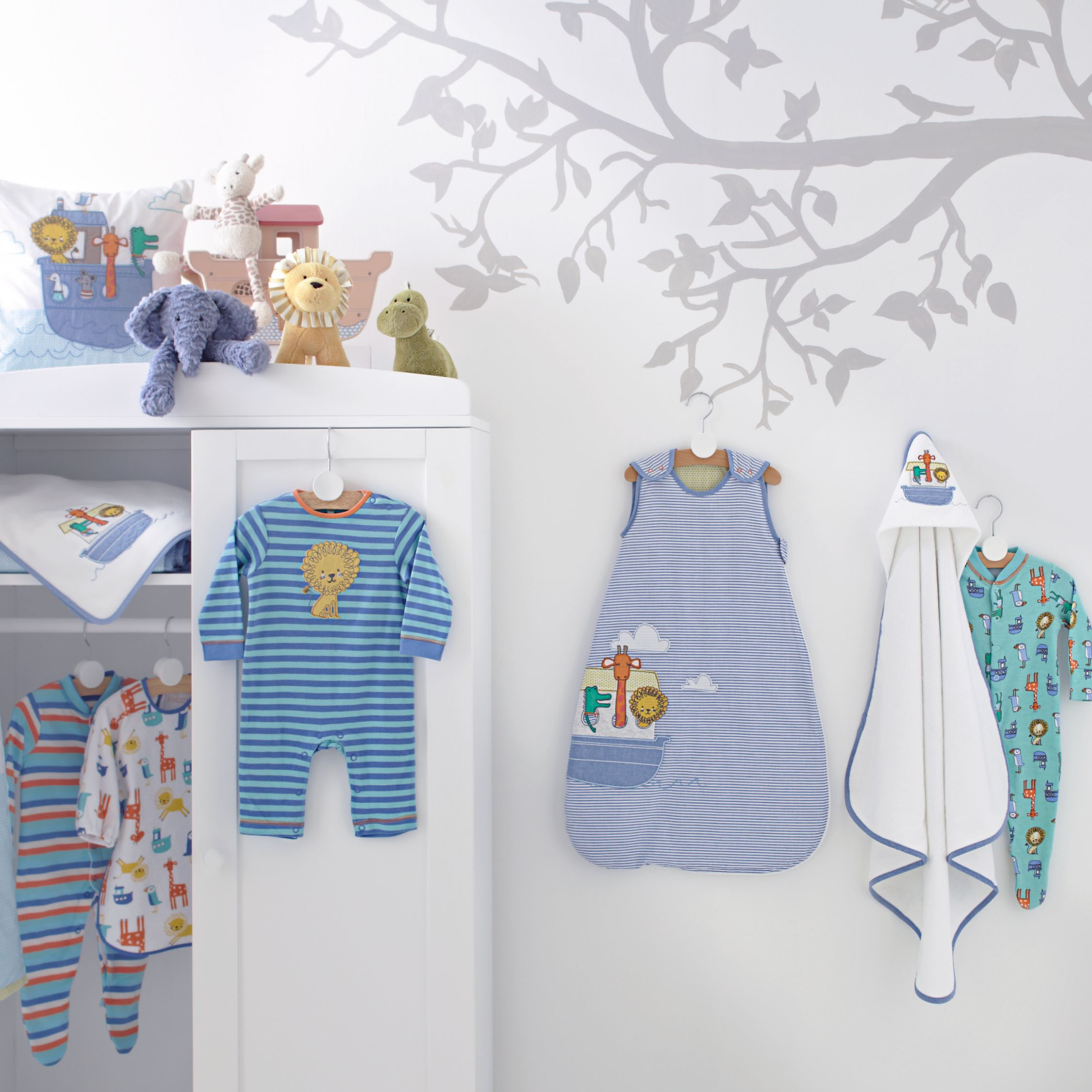 Noah's Ark Babywear & Nursery Co-ordinated Range