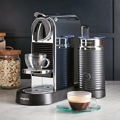 buy nespresso citiz milk coffee machine by magimix chrome john lewis. Black Bedroom Furniture Sets. Home Design Ideas