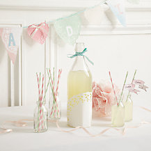 How to create celebration doiley glass bottles