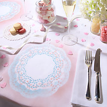 How to make a doiley tablecloth place setting