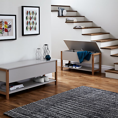 Buy John Lewis Northgate Flip-top Storage Bench, Oak, L90cm Online at johnlewis.com