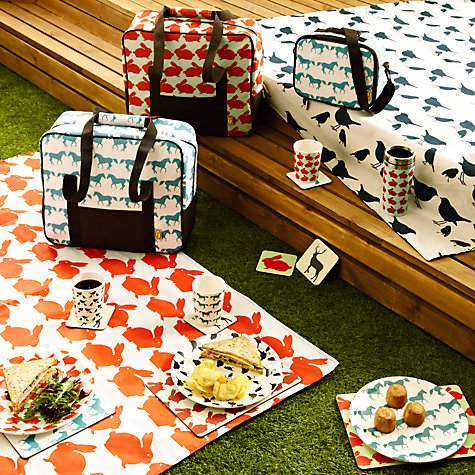 Buy Anorak Kissing Rabbits Picnic Rug, L145cm Online at johnlewis.com
