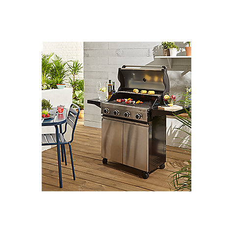 Buy John Lewis JL4-2014 Hooded 4 Burner Gas Barbecue Online at johnlewis.com