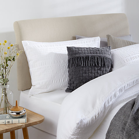 Buy John Lewis Natural Collection Bedford Strut Headboard, Pebble, Double Online at johnlewis.com