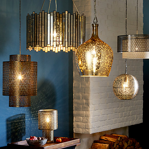 Buy John Lewis Tallulah Copper Pendant Light Mercury