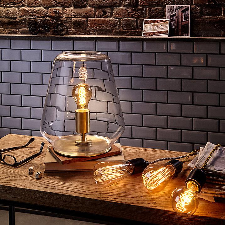 Buy John Lewis Colbert Glass and Brass Table Lantern Online at johnlewis.com