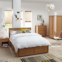 Buy john lewis montreal 1 drawer bedside cabinet oak for Bedroom furniture montreal