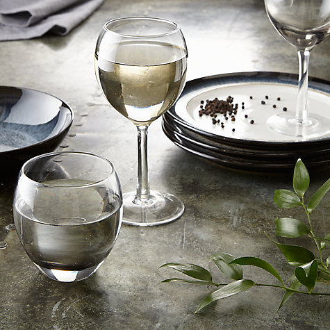 Buy Denby Halo White Wine Glass, Clear, Pack Of 2 Online at johnlewis.com
