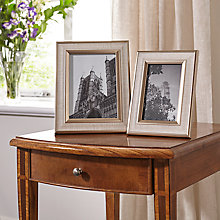 Buy John Lewis Champagne Edge Linen Photo Frame Range Online at johnlewis.com