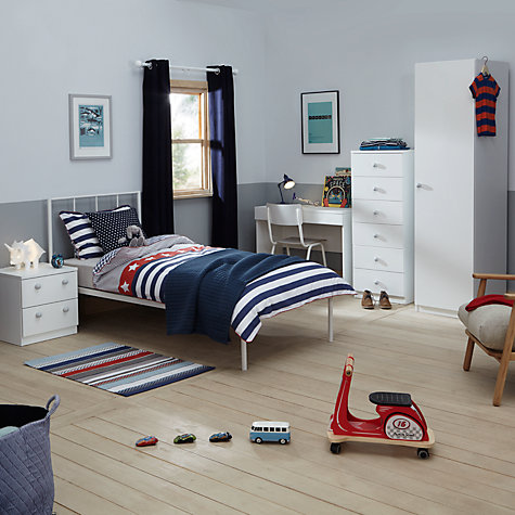 Buy Little Home At John Lewis Mix It Grey Wooden Handle Bedroom Range John Lewis